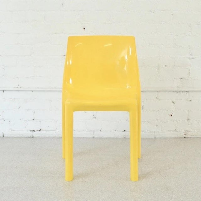 Mid-Century Modern Vintage Yellow Atomic Mod Chair For Sale - Image 3 of 8