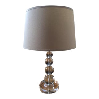 Pottery Barn Glass Ball Table Lamp