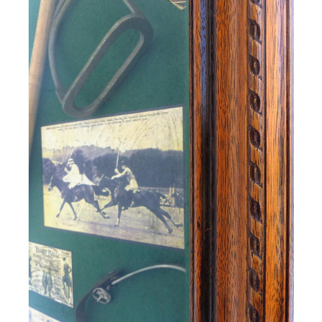 Vintage Polo Memorabilia Shadow Box For Sale - Image 4 of 10