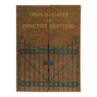 Circa 1920's Printers Portfolio Book For Sale