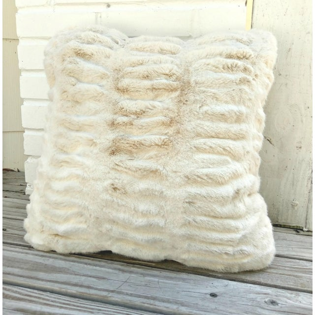 Fabulous faux mink pillow. Wonderful texture and softness. Pleats and tucking add fluidity to the look and feel. No...