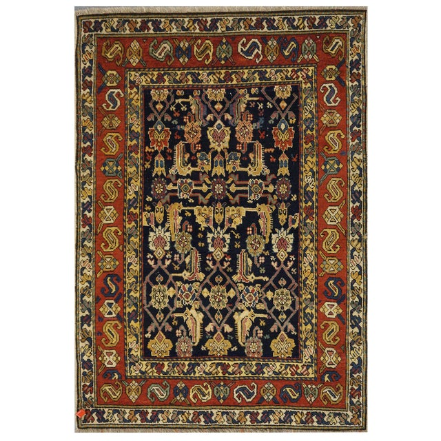 """Traditional Caucasian Wool Rug - 3'3"""" x 4'8"""" For Sale - Image 5 of 5"""