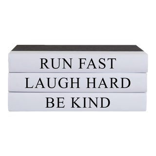 Run Fast Quote Book Stack- Set of 3 For Sale