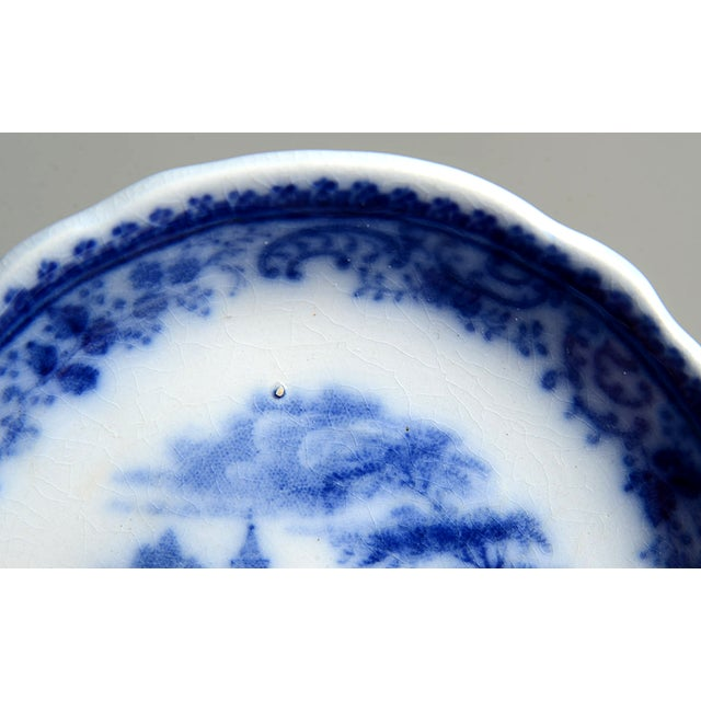 Burgess & Leigh Burgess & Leigh Flow Blue Butter Pat - Set of 4 For Sale - Image 4 of 7
