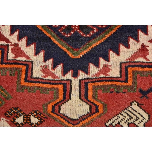 Vintage Persian Luri Rug- 4′1″ × 7′5″ For Sale - Image 9 of 13