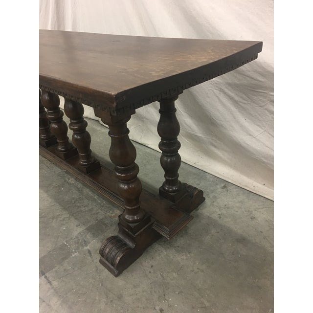18th C Italian Walnut Console Table Sofa Table For Sale - Image 9 of 11
