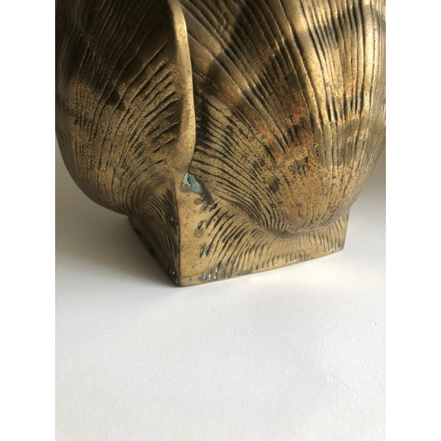 Vintage Brass Seashell Planter For Sale In Orlando - Image 6 of 7