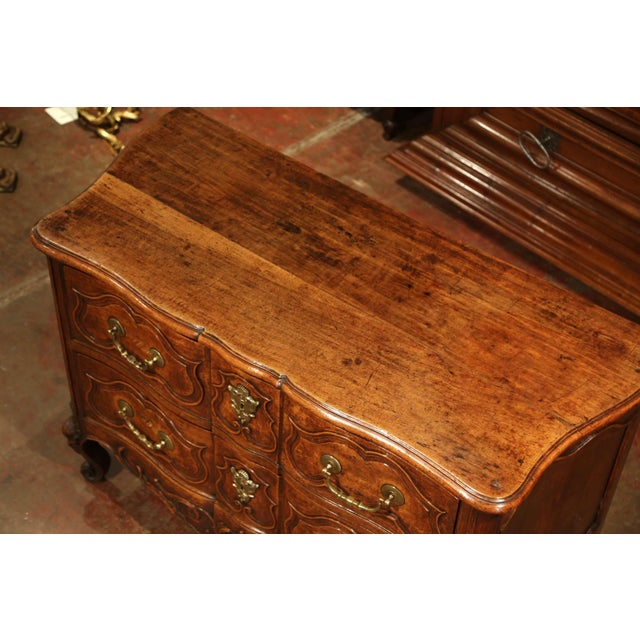 Louis XV 18th Century Louis XV Period Carved Walnut Two-Drawer Commode From Fourques For Sale - Image 3 of 11
