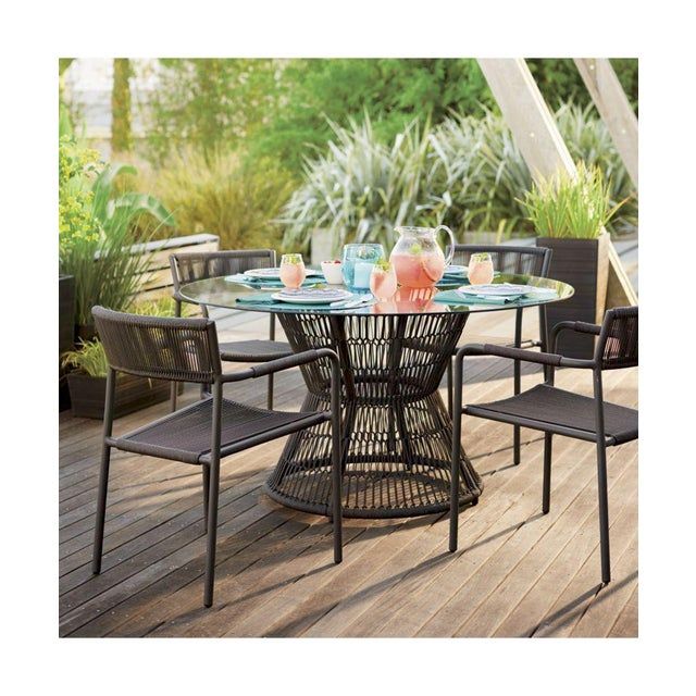Crate & Barrel Patio Table - Image 5 of 5