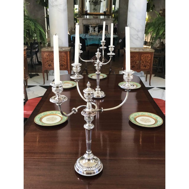 Pair of Silver Candelabra George III Period For Sale - Image 4 of 8