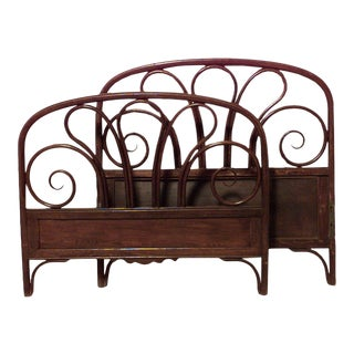 Walnut Bentwood Twin Bed For Sale