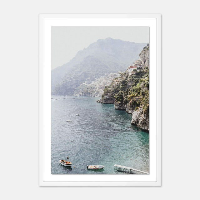 Natalie Obradovich Bagni d'Arienzo II by Natalie Obradovich in White Framed Paper, Large Art Print For Sale - Image 4 of 4