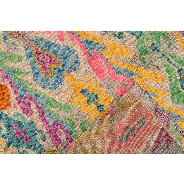 "Apadana - Modern Afghan Gabbeh Rug, 3'5"" x 4'10"" For Sale - Image 5 of 6"