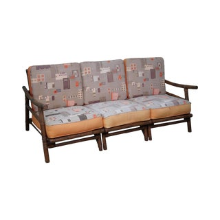 Ficks Reed Far Horizons John Wisner Rattan 3 Section Sofa For Sale