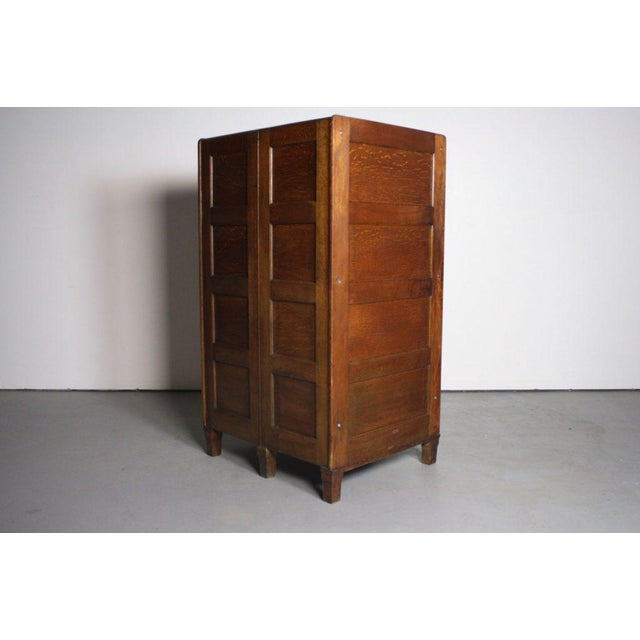 Mid-Century Modern Oak Library Bureau Filing Cabinet from Early 1900s For Sale - Image 3 of 6