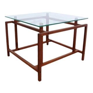 Mid Century Modern Teak Side Table by Henning Norgaard for Komfort For Sale