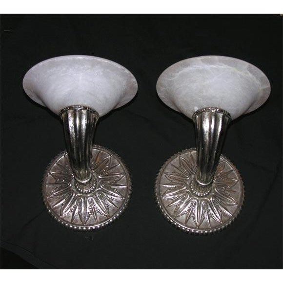 Pair of Modern Deco-Style Wall Sconces For Sale In New York - Image 6 of 6