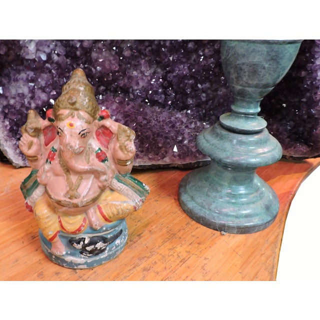 Anonymous Polychromatic Terra Cotta Ganesh Figurine For Sale - Image 4 of 5