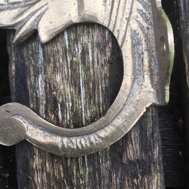 Vintage Brass Elephant Hook - Image 4 of 6