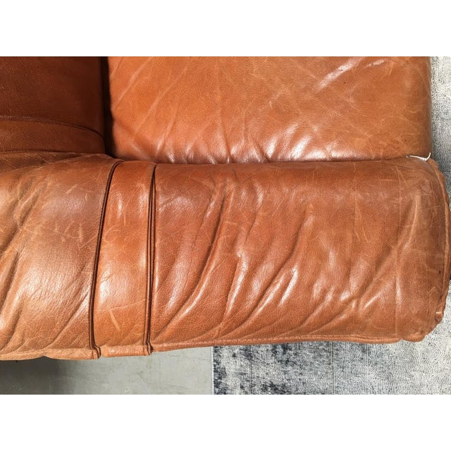 Mid-Century Modern Mid Century Leather Sofa For Sale - Image 3 of 6