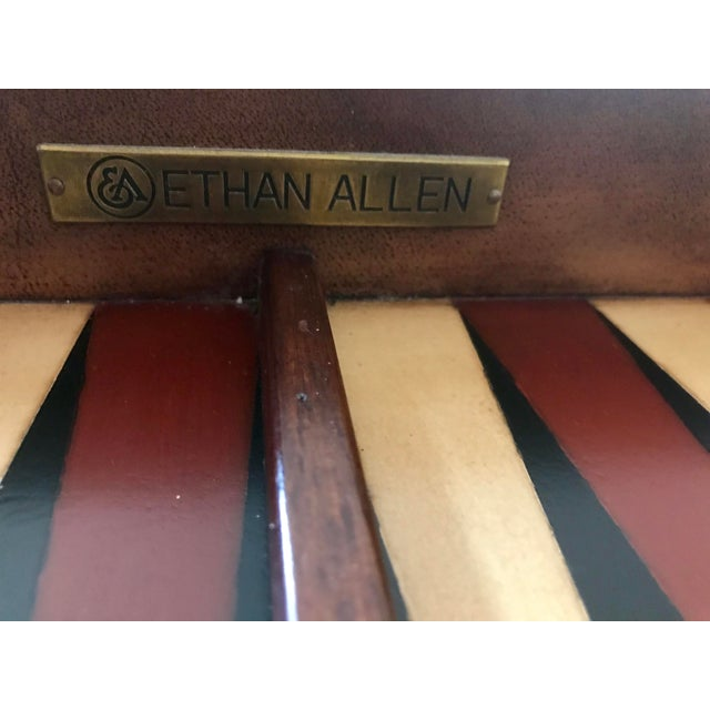 Brown Ethan Allen Game Table For Sale - Image 8 of 9