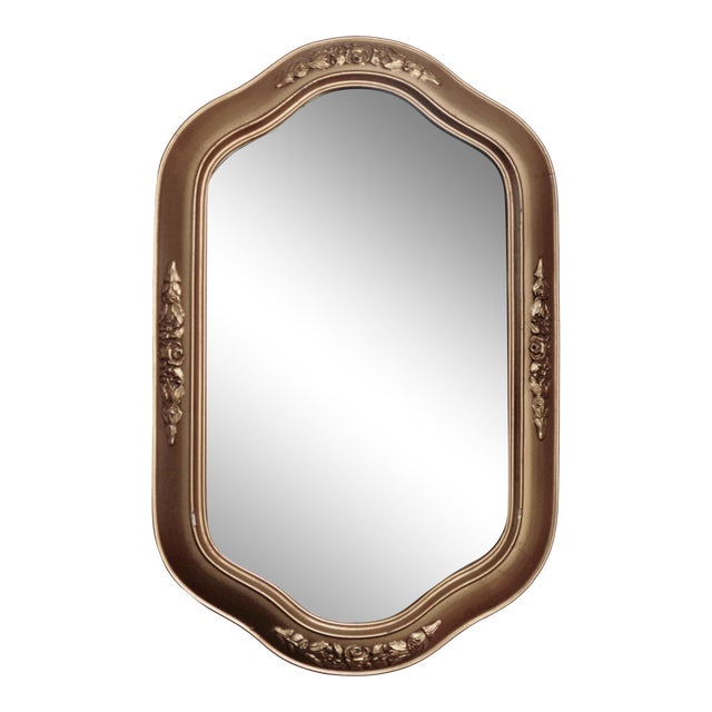 Petit Golden Wall Mirror For Sale