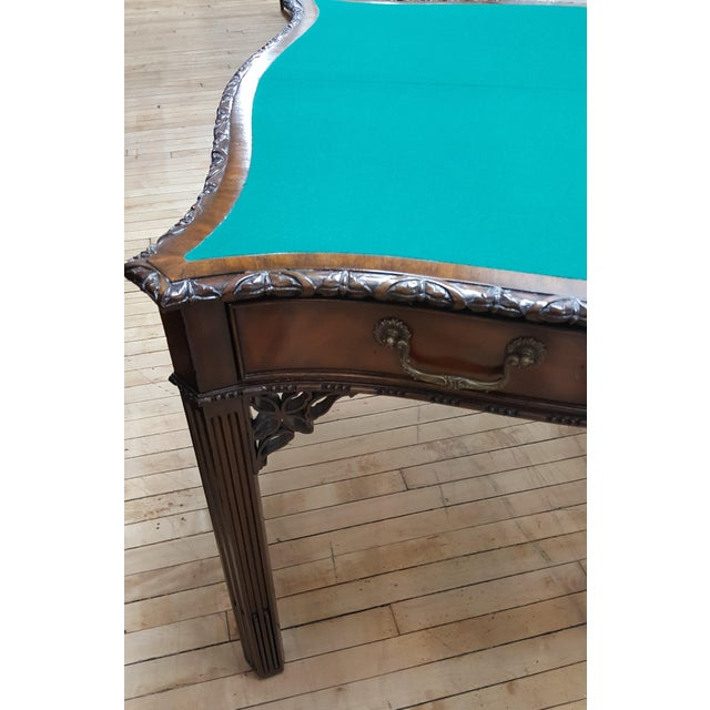 2000s Maitland Smith Mahogany Flip Top Game Table For Sale - Image 5 of 9