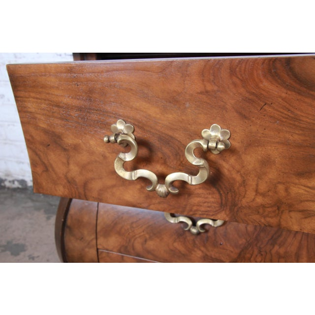 Brown Baker Furniture Burled Walnut Bombay Chest Commode For Sale - Image 8 of 13