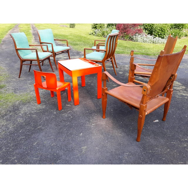 Brown Vintage Mid Century Wilhelm Kienzle for Wohnbedarf Style Safari Chairs- a Pair For Sale - Image 8 of 11