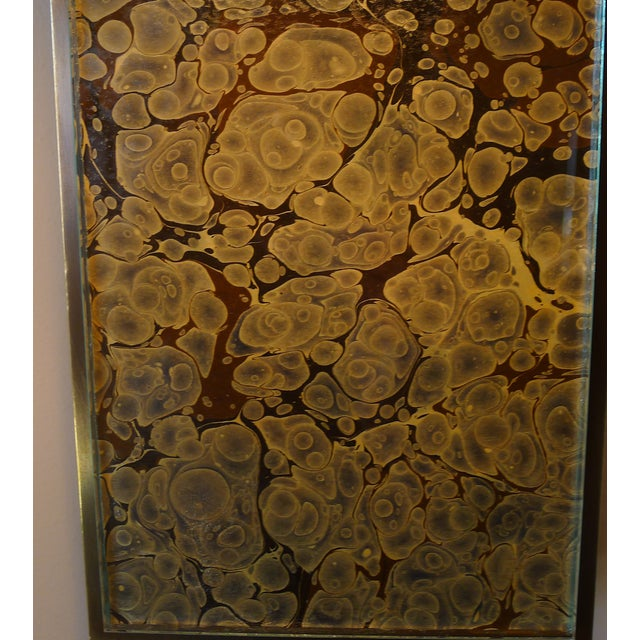 Metal Modern Brass and Marbleized Wall Sconce V2 by Paul Marra For Sale - Image 7 of 13