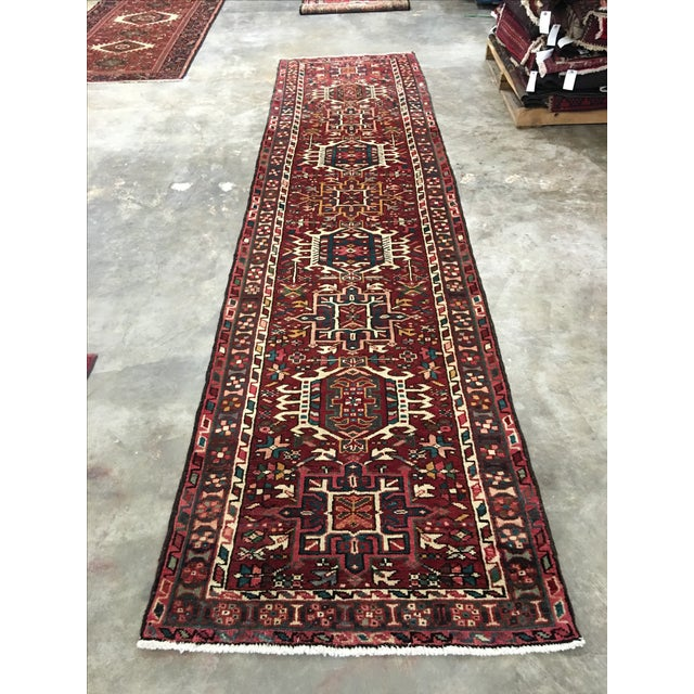 "Vintage Karajeh Persian Runner - 3'8"" X 9' - Image 2 of 9"