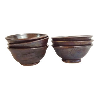 Studio Pottery Soup Bowls - Set of 6 For Sale