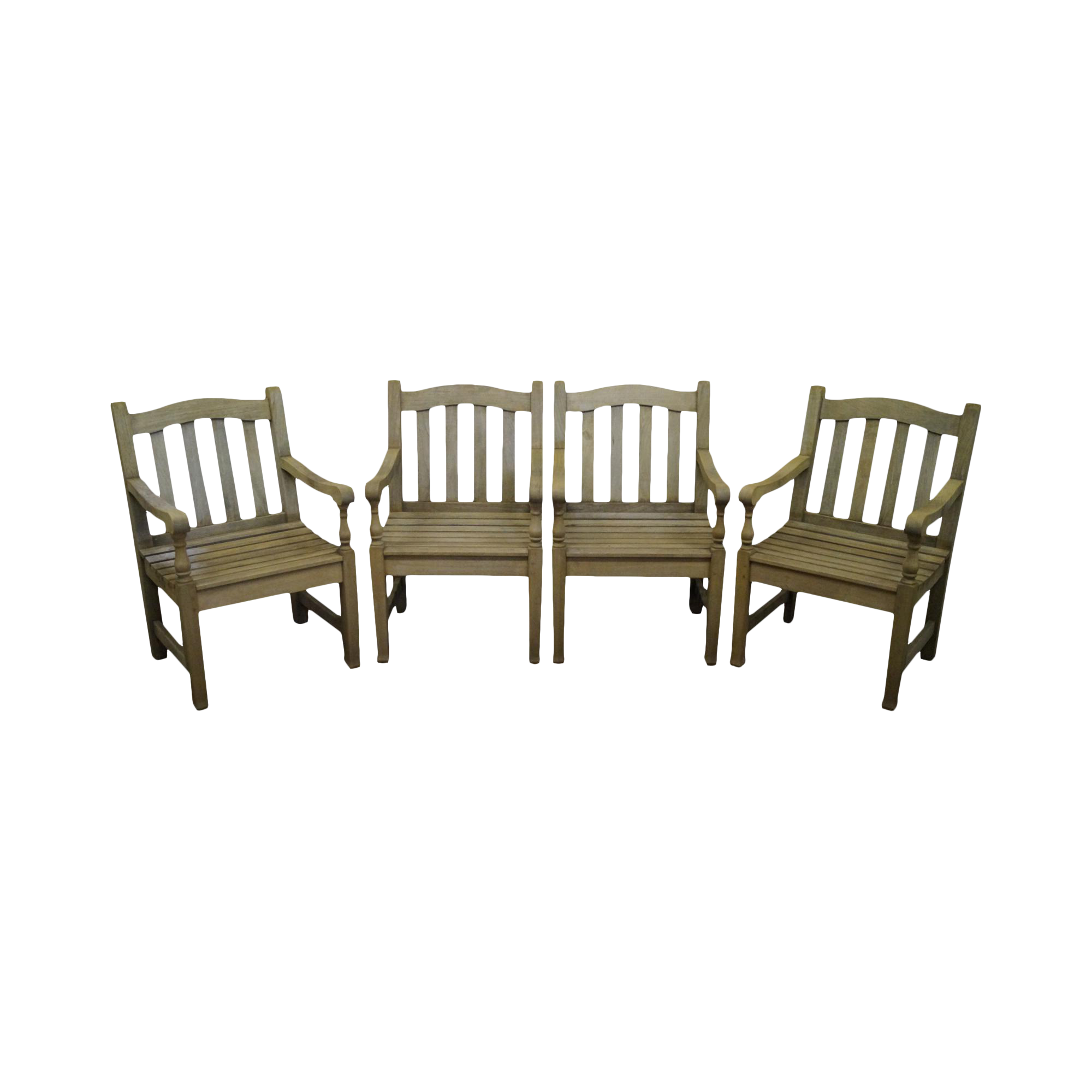 Barlow Tyrie Teak Outdoor Waveney Arm Chairs   Set Of 4