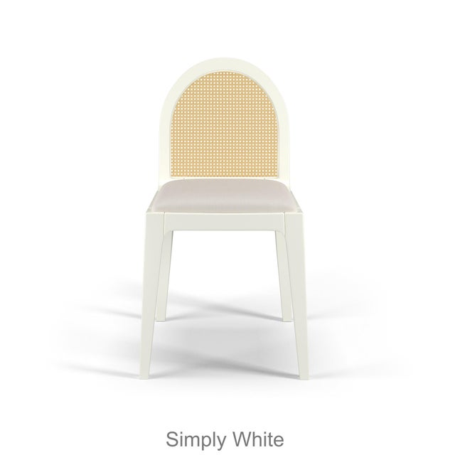 Contemporary Juliette Dining Chair - Coral Dust, Optic White Linen For Sale - Image 3 of 4