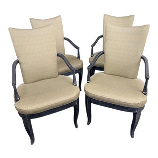 Vintage Black and Green Dining Chairs - Set of 4 For Sale