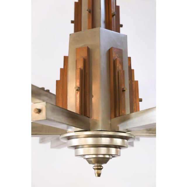 Wonderful Bold Deco Chandelier For Sale - Image 12 of 13