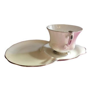 1960s Vintage Royal Albert Bone China Teacup Snack Set For Sale