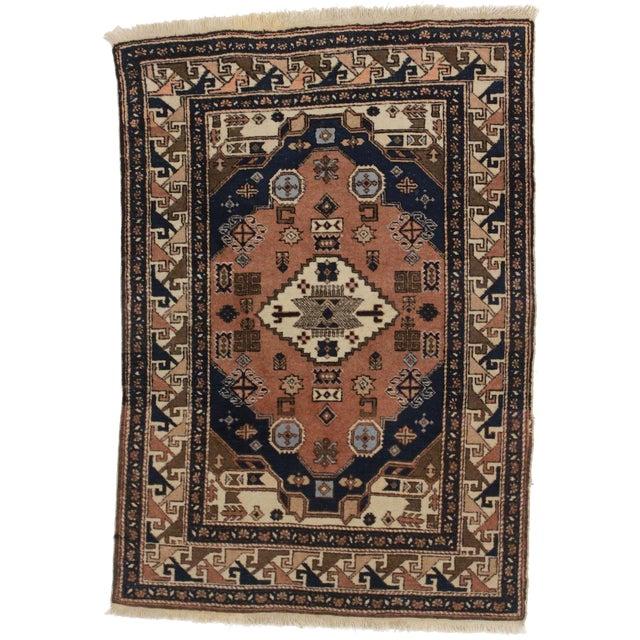 Vintage Persian Ardebil Wool Rug - 3′8″ × 5′2″ - Image 1 of 3