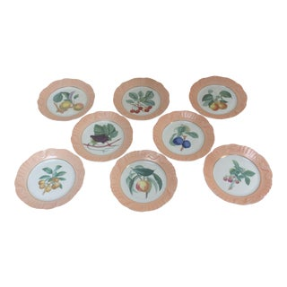 Mottahedeh Fruit Themed Plates - Set of 8 For Sale