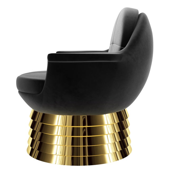 Troy Smith Designs Iris Lounge Chair by Artist Troy Smith - Contemporary Design For Sale - Image 4 of 7