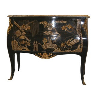Louis XVI Style Chinoiserie Commode For Sale