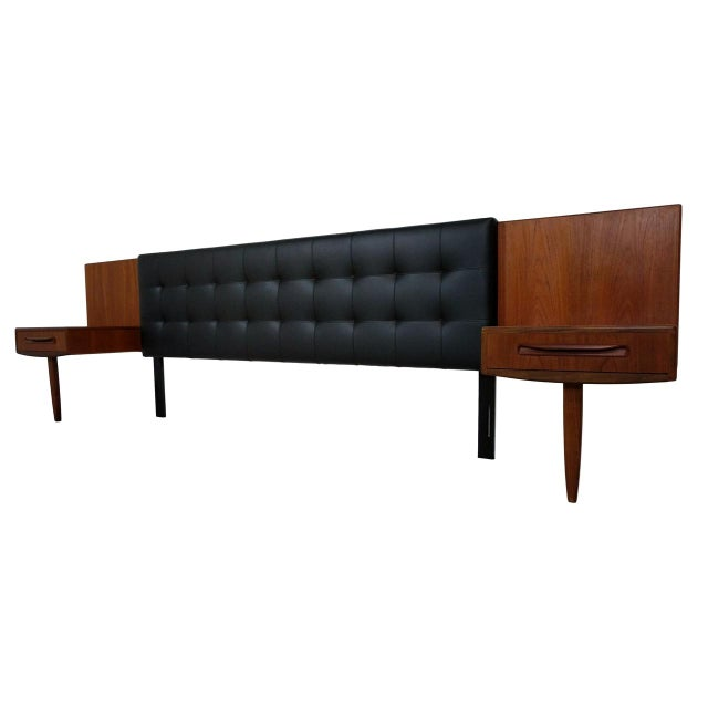 Mid Century Modern King Headboard With Floating Teak