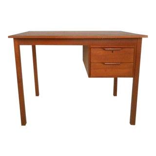 Vintage Modern Danish Teak Desk For Sale