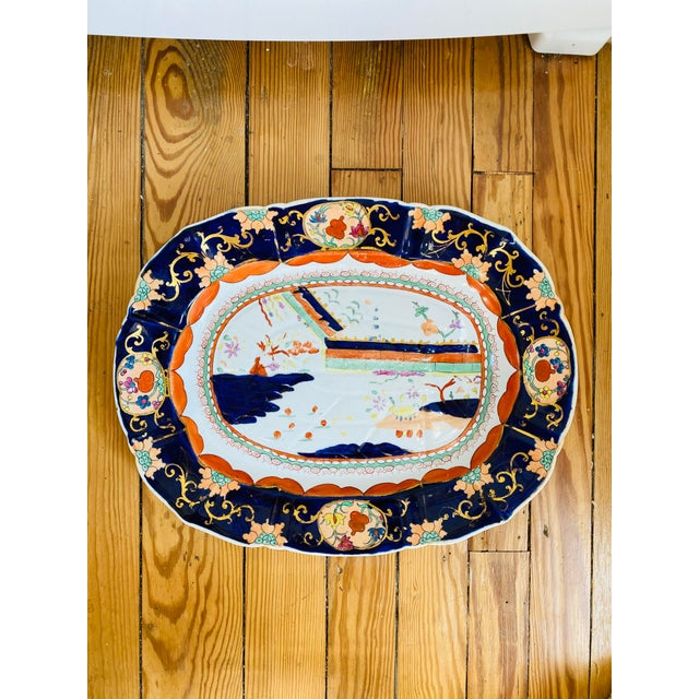 Mid 19th Century Large Mason's Patent Ironstone Chinoiserie Well and Tree Platter For Sale - Image 11 of 11