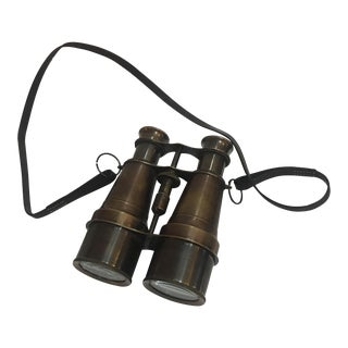 Bronzed Brass Binoculars With Strap