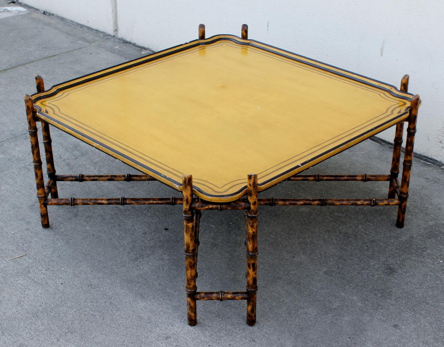 Charmant Baker Furniture Faux Bamboo Coffee Table
