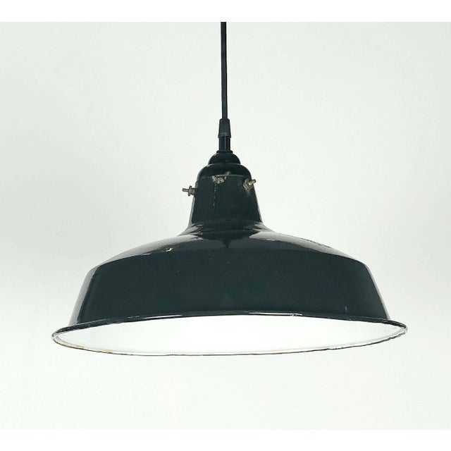 """Black Tole Industrial Hanging Lamps or Lanterns from England (14 1/4"""" Diameter) For Sale In Austin - Image 6 of 11"""