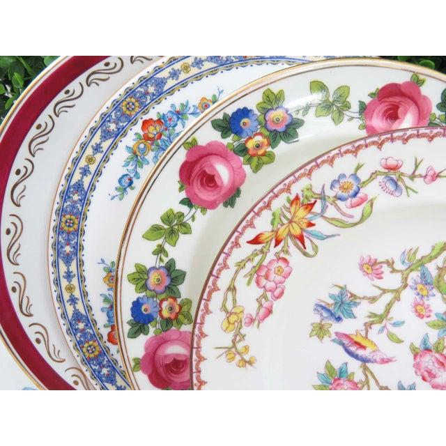 Vintage Mismatched Fine China Dinner Plates - Set of 4 - Image 10 of 10