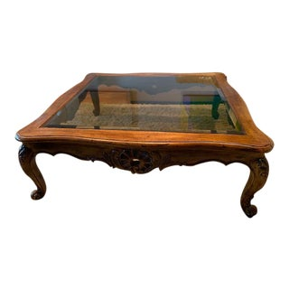 20th Century French Country Henredon Villandry Collection Louis XVII Coffee Table For Sale