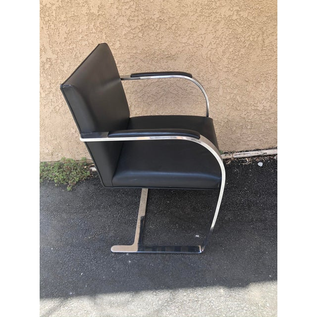 Mid 20th Century Vintage Knoll Chrome Black Chair For Sale - Image 5 of 8
